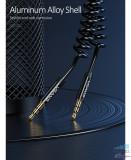 Cablu Audio USAMS US-SJ256 AUX Jack 3.5mm la Jack 3.5mm, Negru