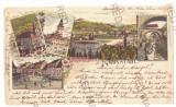 4443 - BRASOV, Litho, Romania - old postcard - used - 1897, Circulata, Printata