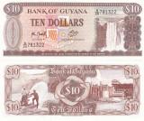 Guyana 10 Dollars 1989 UNC