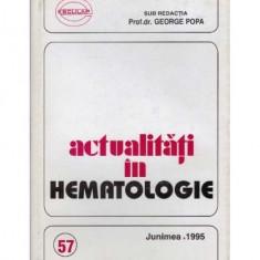Actualitati in hematologie - seria a III-a