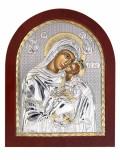 Icoana Maica Domnului Dulcea Sarutare Foita Argint 925 11x13cm COD: 2461