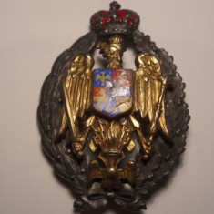 Insigna Regalista Ofiter Absolvent Academia Militara Marcaj Henrich Weiss Argint
