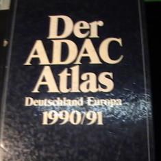 DER ADAC ATLAS-DEUTSCHLAND EUROPA-1990-1991-SCHNELL UND SICHERANS ZIEL-805 PGA3