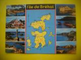 HOPCT 62257  HARTA INSULA BREHAT-BRETANIA FRANTA -CIRCULATA
