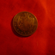 Moneda 5 Bani 1884 Carol I , bronz , cal. medie , concava - eroare