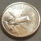 Monedă 1 Dollar 2020 USA, Maryland, Hubble Space Telescope, unc, litera P, America de Nord