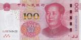 CHINA █ bancnota █ 100 Yuan █ 2015 █ P-909b █ UNC █ necirculata