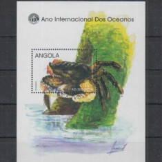 Angola 1998 - Fauna marina, crab, colita neuzata