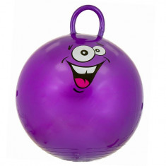 Jucarie gonflabila pentru copii, model minge cu maner, mov, 45 cm