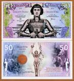 !!! FRANTA - FANTASY NOTE - 50 FRANCI 2019 , IOANA D'ARC - UNC