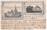 #2429- Ro, Schassburg, Sighisoara, c.p. Litho circ.1904: Internat, Gimnaziu Ev., Circulata, Fotografie