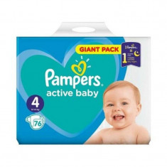 Scutece Pampers Active Baby Nr 4, Giant Pack - 76 buc.