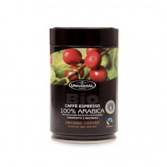 Cafea Universal Caffe Organic Fair Trade 100% Arabica boabe cutie 250 gr