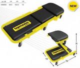 Pat-scaun mobil pe roti pentru lucrari de mecanica auto, TopMaster