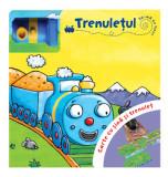 Trenulețul. Carte cu șină și trenuleț