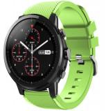 Curea ceas Smartwatch Samsung Gear S3, iUni 22 mm Silicon Light Green