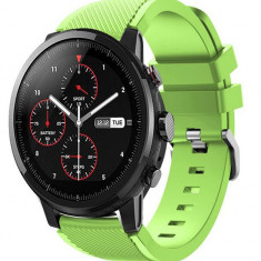 Curea ceas Smartwatch Samsung Gear S3, iUni 22 mm Silicon Light Green