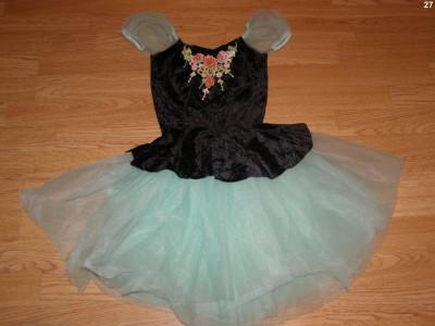 costum carnaval serbare rochie dans balet floare pentru copii de 4-5-6 ani foto