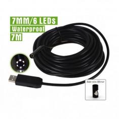 Camera endoscop foto/ video, diametru 7mm, cablu 5m, waterproof