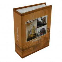 Album foto Travel Europe, 100 poze, format 10x15, slip-in, portocaliu
