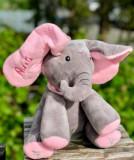 Elefant roz din plus Peek a Boo(Cucu-Bau) personalizat