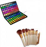 Trusa Make-up profesionala 120 culori + pensule 12 set