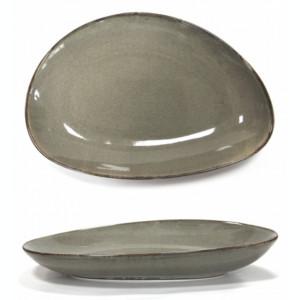 Platou portelan oval adanc GREY, Antique, 20 cm, 0156117