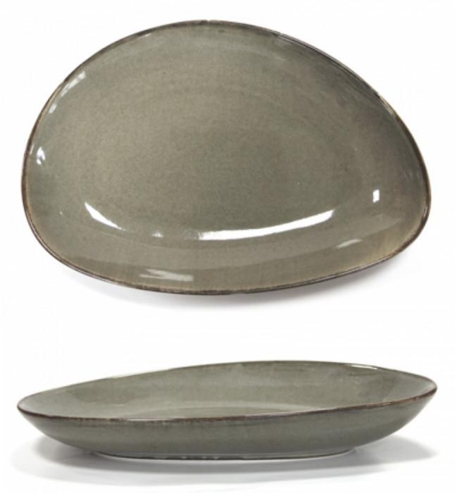 Platou portelan GREY oval adanc, Antique, 30 cm, 0156121