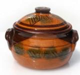 Oala ceramica,lut 550ml galbena cu manere Devon