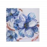 Tablou cu flori albastre, Meli Melo