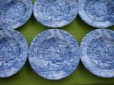 Portelan englezesc English Style, superb set de 6 farfurii