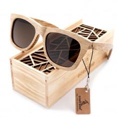 Ochelari de soare din lemn Bobo Bird AG007, lentila maro Wooden Lux