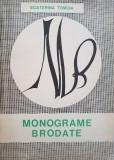 carte veche lucru manual,1969,MONOGRAME BRODATE-Ecaterina Tomida,T.GRATUIT