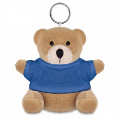 Breloc ursulet din plus cu tricou albastru