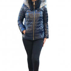 Jacheta casual Anca,scurta,model luicios,nuanta de bleumarin