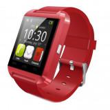Cumpara ieftin Smartwatch Techstar® U8+, Bluetooth, Ecran LCD 1.44inch, Conectare Telefon, Pedometru, Rosu, U-Watch
