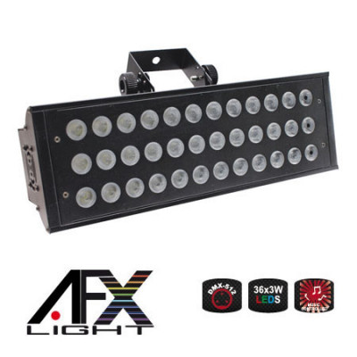 Stroboscop profesional, 150 W, 36 x LED, 2 canale DMX foto