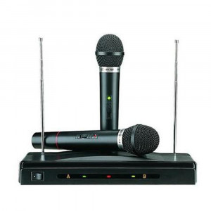 Set microfoane wireless + reciever AT 306