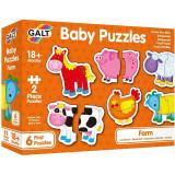 Cumpara ieftin Baby Puzzle: Ferma, 2 piese, Galt