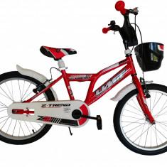 """Bicicleta copii UMIT Z.Trend , culoare Rosu , roata 20"""" , otelPB Cod:20020000002"""