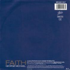 "George Michael - Faith (1987, Epic) disc vinil single 7"""