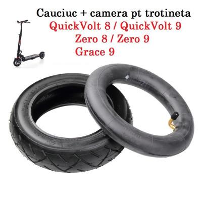 Pachet cauciuc + camera 8.5 inch pt trotineta electrica  Zero 8 9 QuickVolt 8 9 foto