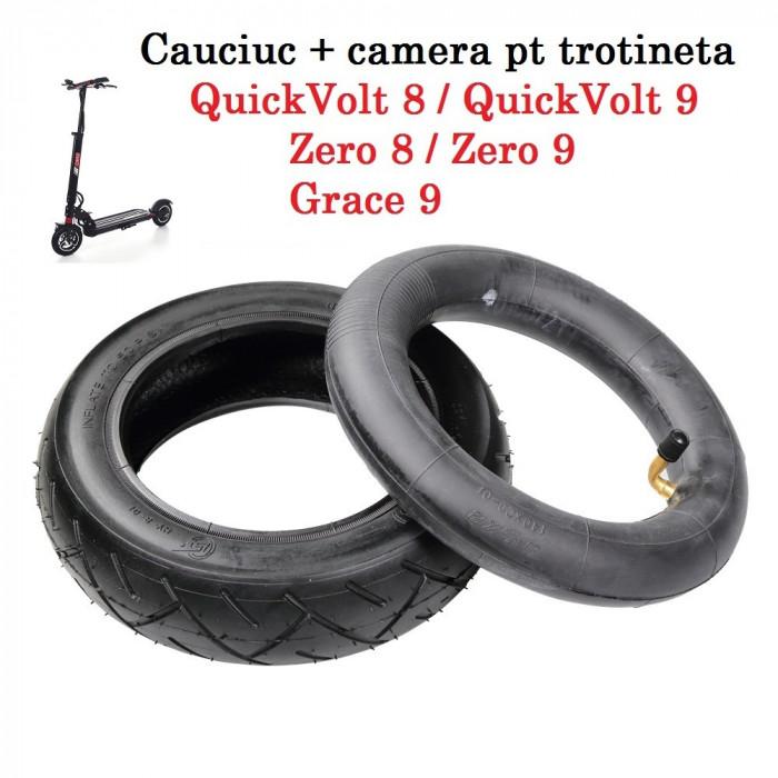 Pachet cauciuc + camera 8.5 inch pt trotineta electrica  Zero 8 9 QuickVolt 8 9