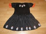 costum carnaval serbare vrajitoare schelet pentru copii de 6-7 ani