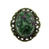 Brosa/pandantiv bronz antic cu rubin zoisit natural