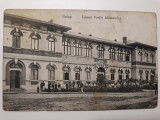 GALATI -LICEUL VASILE ALECSANDRI -INCEPUT DE 1900 -CIRCULATA LA CONSTANTINOP0L