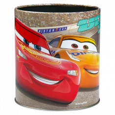 Suport metalic pentru creioane si pixuri, model cars, 10×11 cm, multicolor