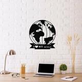 Cumpara ieftin Decoratiune pentru perete, Ocean, metal 100 procente, 48 x 55 cm, 874OCN1048, Negru