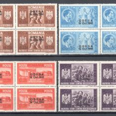 Fratia de Arme Romano-Germana 1941, Bloc x4, Supratipar Odesa ROMANIA LP 146 III
