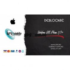 Deblocare Oficiala Apple iPhone Vodafone UK - iPhone 7,7+ IMEI Curat